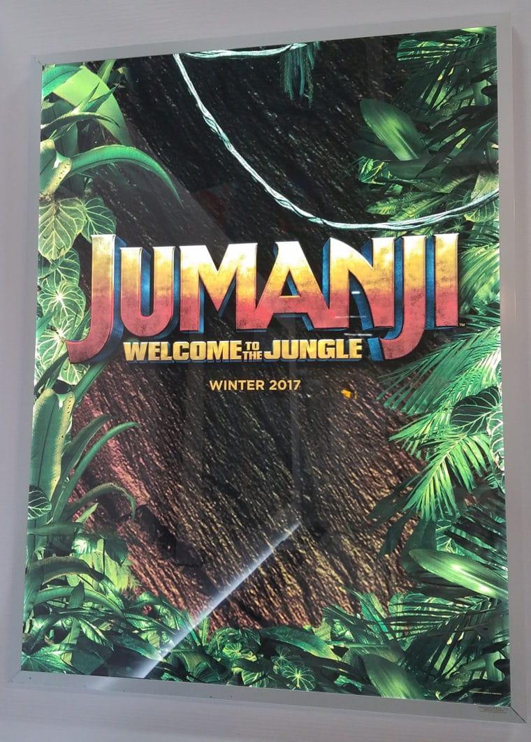 jumanji welcome to the jungle primeiro p ster do filme revelado cinema dol di rio. Black Bedroom Furniture Sets. Home Design Ideas