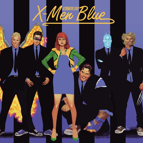 X-Men: Blue #11, homenagem a Paralel Lives, da Blondie