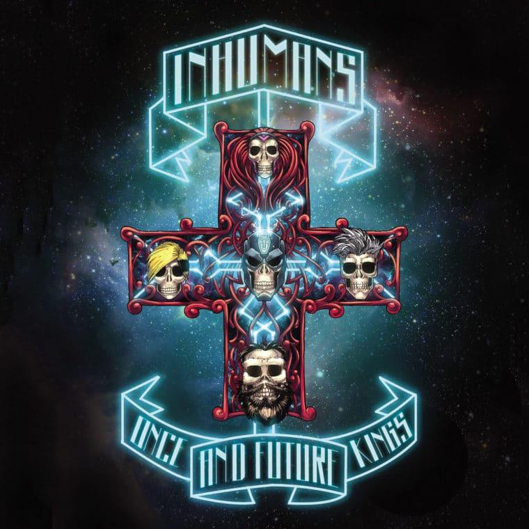 Inumanos #2, homenagem a Appetite for Destruction, do Guns N' Roses
