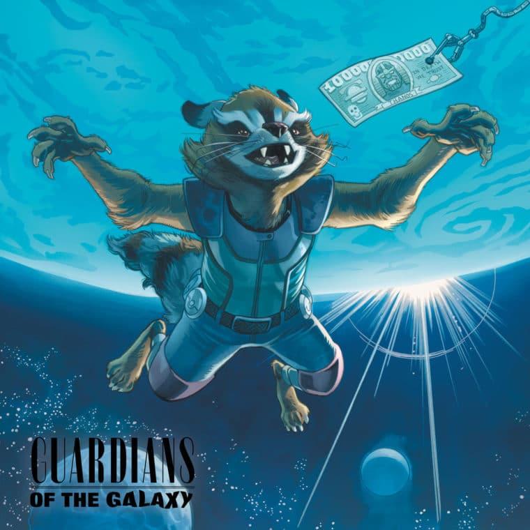 Guardiões da Galáxia #9, homenagem a Nevermind, do Nirvana
