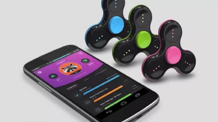 Fidget spinner gamer funciona como controle para jogos mobile
