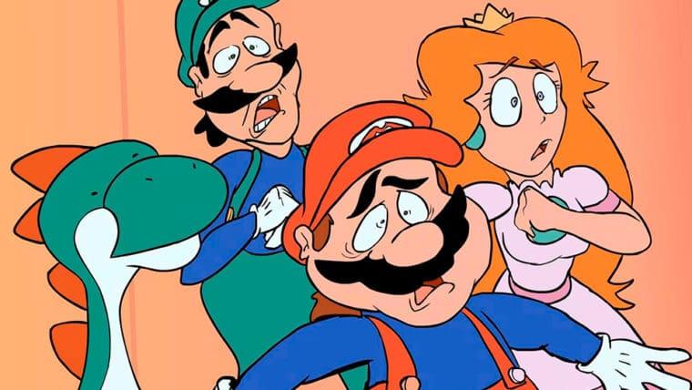 desenho animado de super mario world é recriado com mais de 220