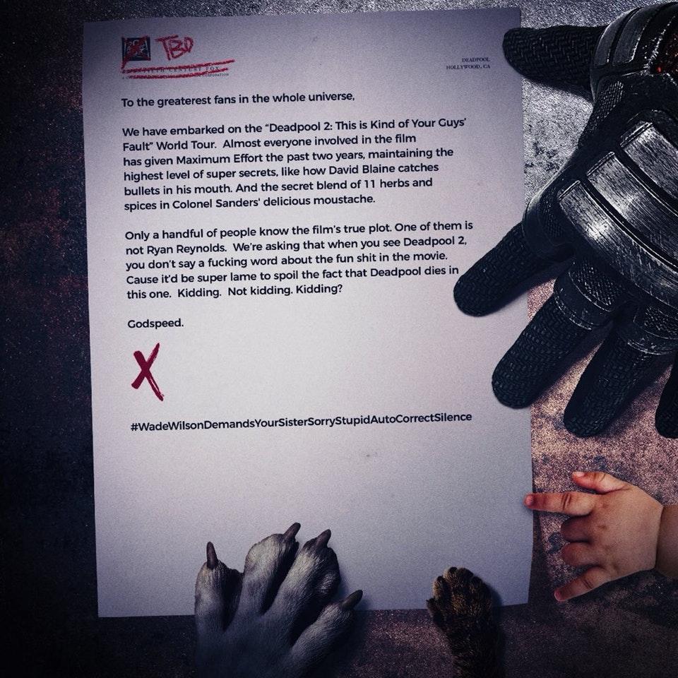 'Deadpool' pede perdão a Beckham por piada em novo vídeo