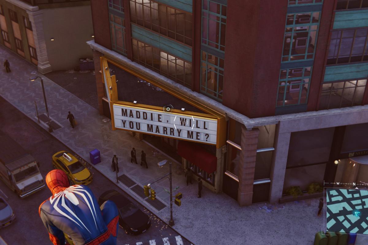 Spider-Man easter-egg casamento