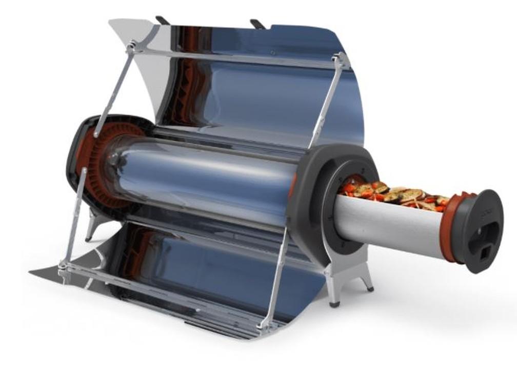 As refeições são preparadas em um cilindro de vácuo