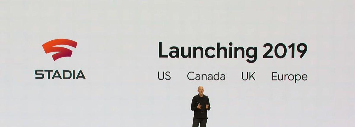 Momento em que a Google anunciou o Stadia para 2019