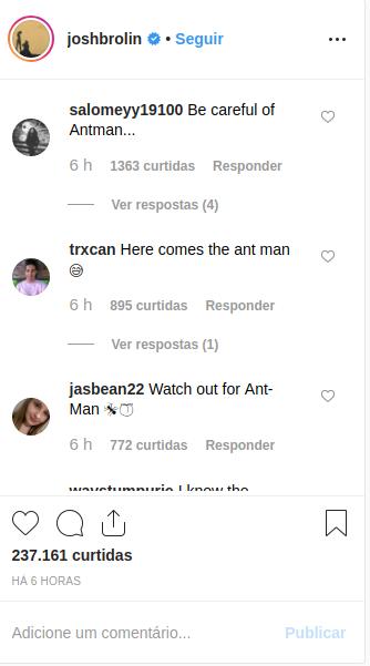 Fãs alertam Josh Brolin para possível tática usada pelos Vingadores em Ultimato